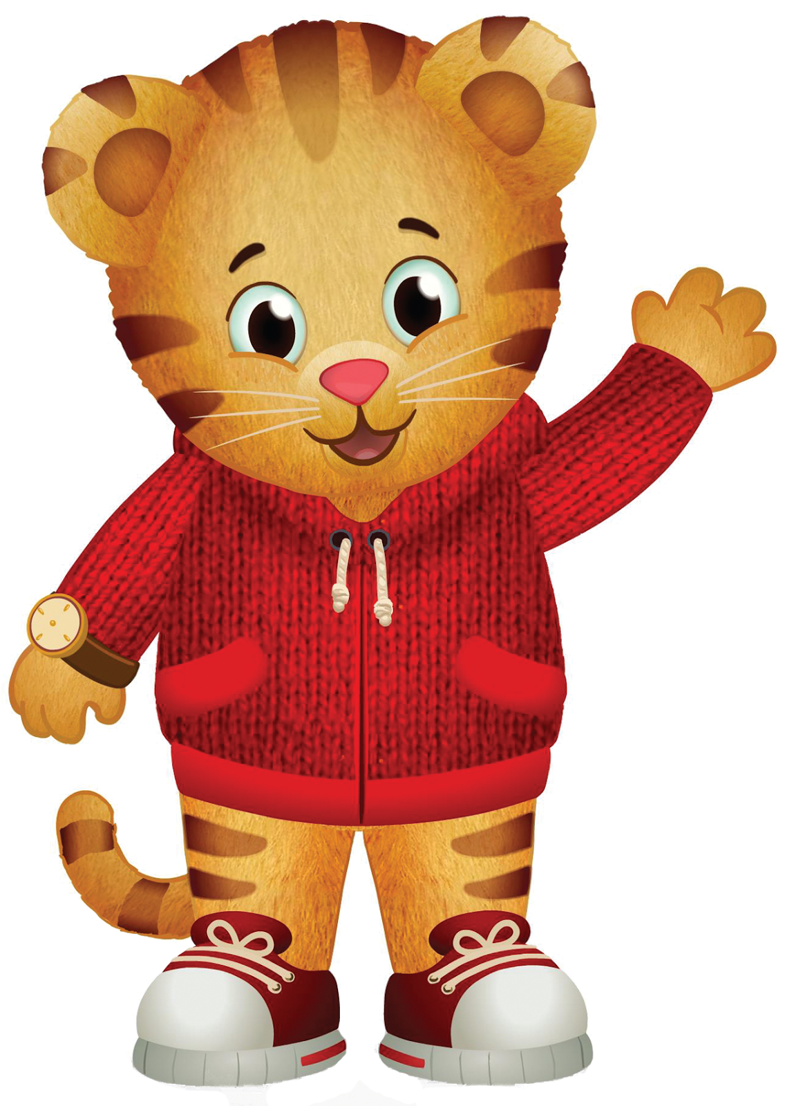 Daniel Tiger and Katerina Kittykat visit to celebrate being a caring neighbor